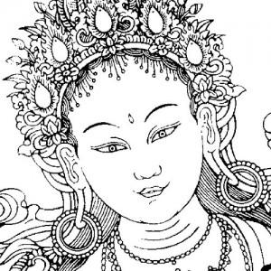 ansikte på Tara